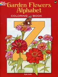 Garden Flowers Alphabet - Coloring Book