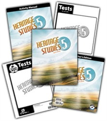 BJU Heritage Studies 5 - Home School Kit - Exodus Books
