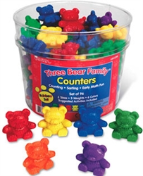 Three Bear Family Rainbow Counters