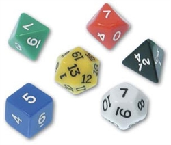 Polyhedral Dice, Set of 6