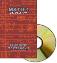 Teaching Textbooks Math 4 - CD-ROM