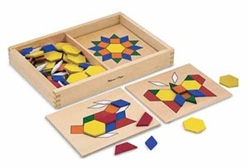 Pattern Blocks and Boards Creative Activity Set
