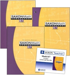 Saxon Math 8/7 - Home School Bundle with Teacher CD