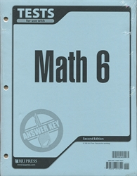Math 6 - Tests Answer Key (old) - Exodus Books