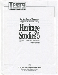 Heritage Studies 5 - Tests (old)