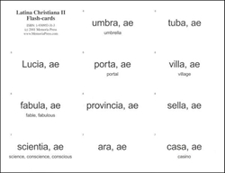 Latina Christiana Book II - Flashcards