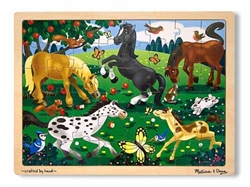 Frolicking Horses Jigsaw Puzzle