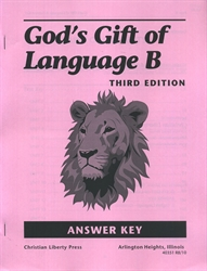 God's Gift of Language B - CLP Answer Key