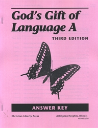 God's Gift of Language A - CLP Answer Key