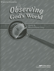 Observing God's World - Quiz Key