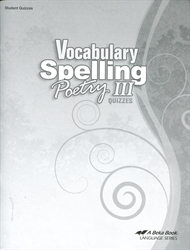Vocabulary, Spelling, Poetry III - Quiz Book