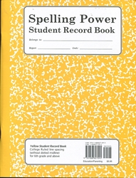 Spelling Power - Student Record Book (Yellow)