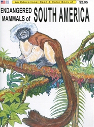 Endangered Mammals of South America - Coloring Book