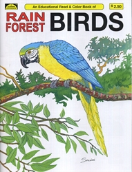 Rain Forest Birds - Coloring Book