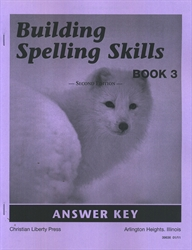Building Spelling Skills Book 3 - Answer Key - Exodus Books