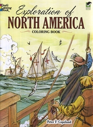 Exploration of North America - Coloring Book - Exodus Books