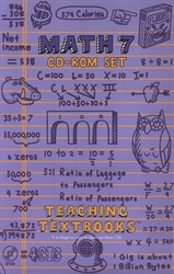 Teaching Textbooks Math 7 - CD-ROM