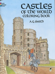Castles of the World - Coloring Book