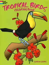 Tropical Birds - Coloring Book