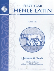 Henle First Year Latin Units I & II - Quizzes & Tests
