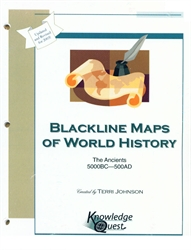 Blackline Maps of World History: The Ancients