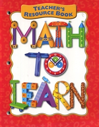 Math to Learn - Teacher's Resource Book