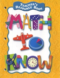 Math to Know - Teacher's Resource Book