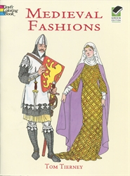 Medieval Fashions - Coloring Book