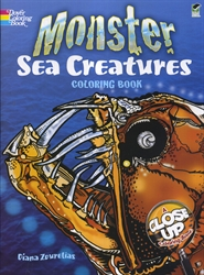 Monster Sea Creatures - Coloring Book