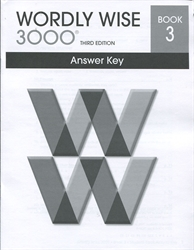 Wordly Wise 3000 Book 3 - Answer Key (old)