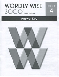 Wordly Wise 3000 Book 4 - Answer Key