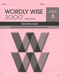 Wordly Wise 3000 Book 6 - Tests