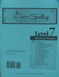 All About Spelling Level 7 - Student Materials Packet