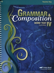 Grammar and Composition IV - Teacher Key