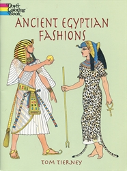 Ancient Egyptian Fashions - Coloring Book - Exodus Books