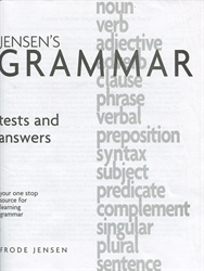 Jensen's Grammar - Answer Key only