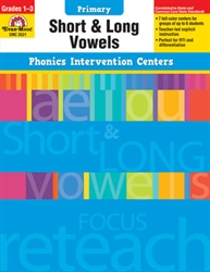 Primary Phonics Intervention Centers: Short & Long Vowels