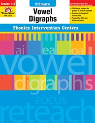 Primary Phonics Intervention Centers: Vowel Digraphs