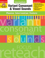 Intermediate Phonics Intervention Centers: Variant Consonant & Vowel Sounds