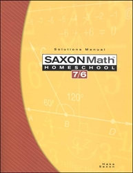 Saxon Math 76 - Solutions Manual