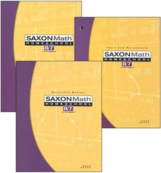 Saxon Math 87 - Homeschool Kit