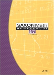 Saxon Math 87 - Student Textbook