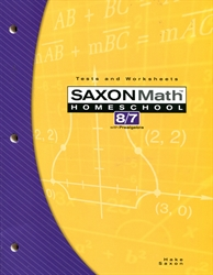 Saxon Math 87 - Tests and Worksheets