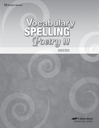 Vocabulary, Spelling, Poetry IV - Quiz Book
