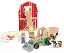Whittle World - Wooden Farm Tractor & Trailer