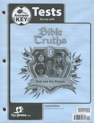 Bible Truths 4 - Test Answer Key