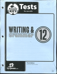 Writing & Grammar 12 - Tests Answer Key
