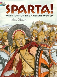Sparta! Warriors of the Ancient World - Coloring Book
