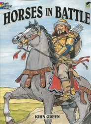 Horses in Battle - Coloring Book