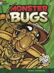 Monster Bugs: A Close-Up - Coloring Book